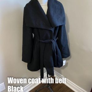 Madden Girl asymmetrical belted coat
